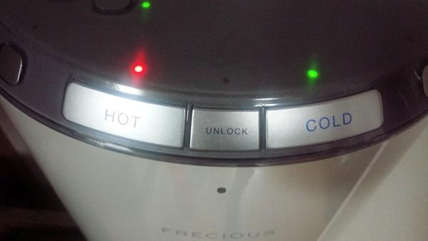 フレシャスデュオのコールド&ホットボタン