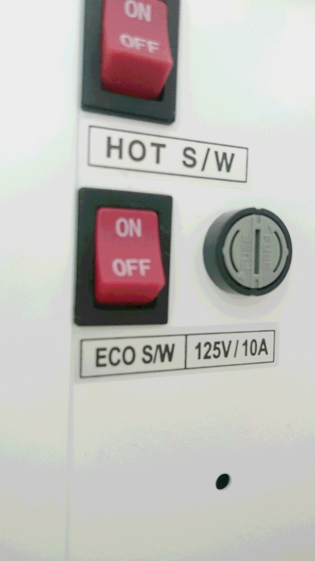 プレミアムウォーターの節電ボタン
