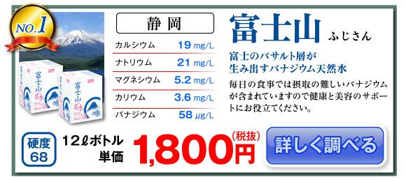 バナジウムが豊富に含まれた天然水『富士山』